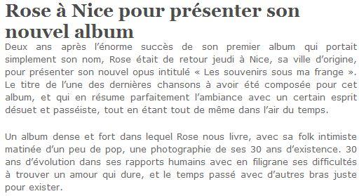 Radio Côte d'Azur - 22 octobre 2009